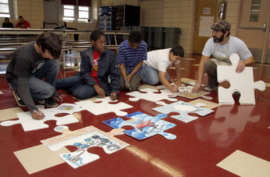 puzzle project si live tim kelly artist art is good nyc south richmond hs
