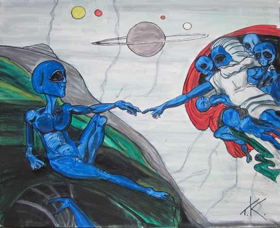 creation of adam alien art similar alien tim kelly artist nyc art