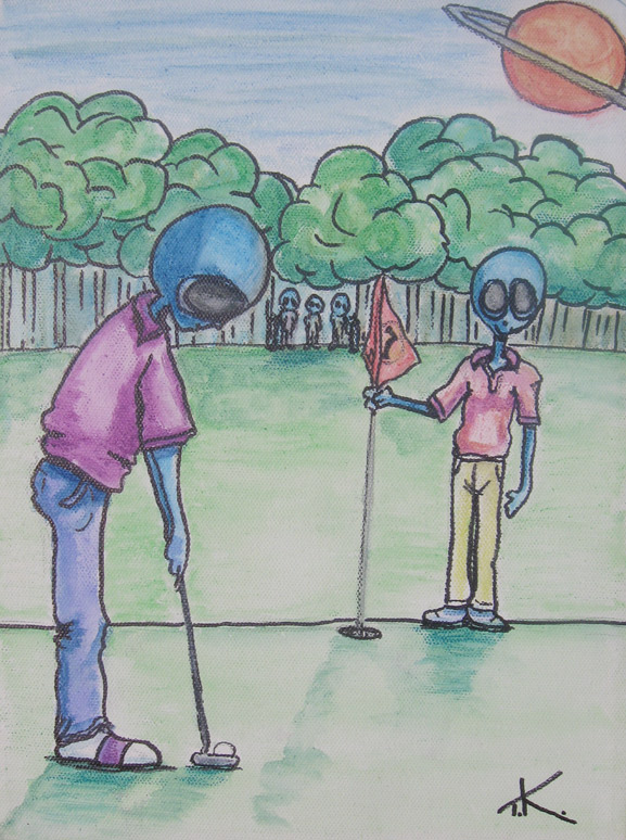 similar alien golf tim kelly artist