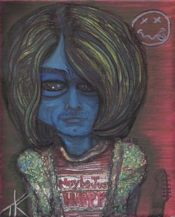 curt cobain alien cobalien similar alien art brooklyn timkelly artist nyc