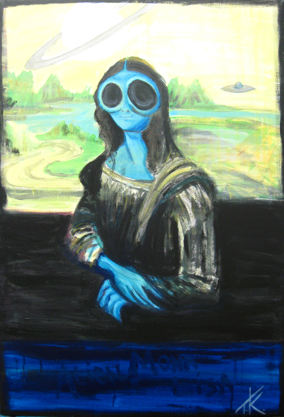 similar alien mona lisa tim kelly artist alien art