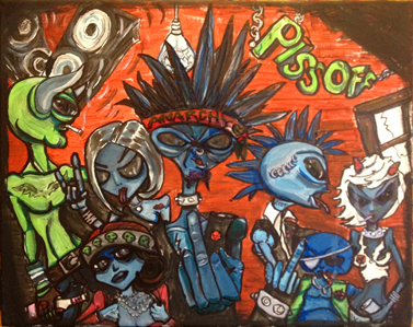 similar alien art tim kelly artist brooklyn nyc art alien with nefarious intent nyc