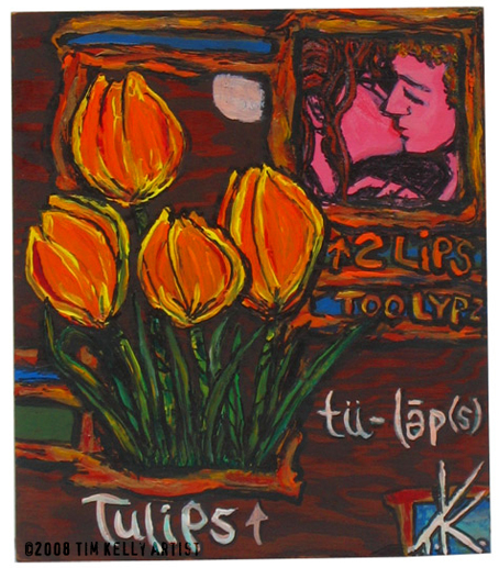 orange tulip tim kelly artist wood