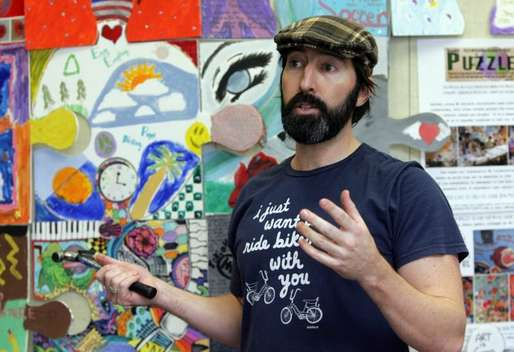 tim kelly puzzle art project monmouth library Tanya Breen/Asbury Park Press staff