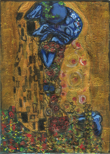 similar alien art blastoff klimt alien kiss tim kelly artist brooklyn art nyc similar alien art