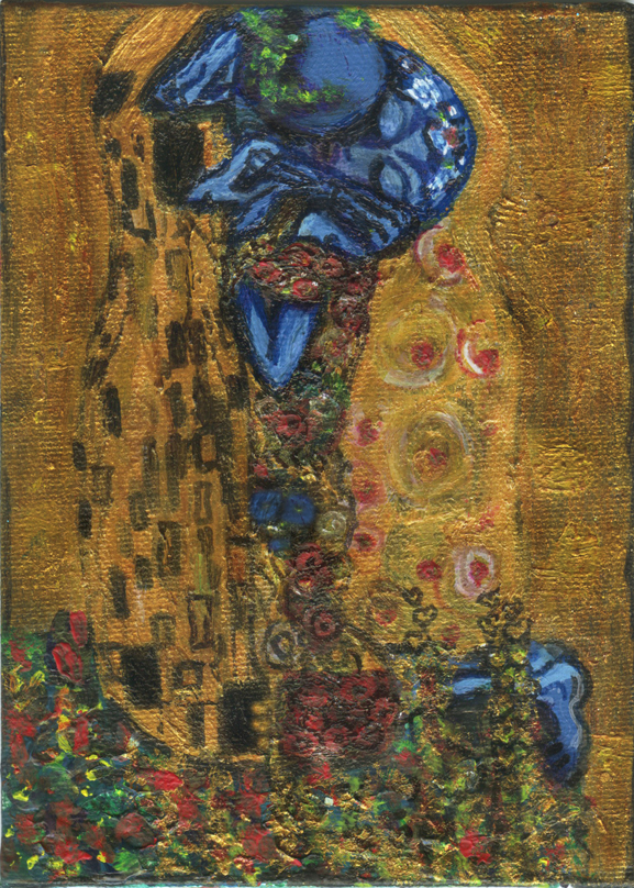 similar alien kiss by blastoff klimt tim kelly artist