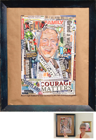 dan kelly portrait collage by tim kelly artist nyc brooklyn for mom