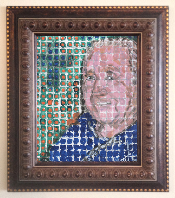 tim kelly artist brooklyn nyc art chuck close style portrait