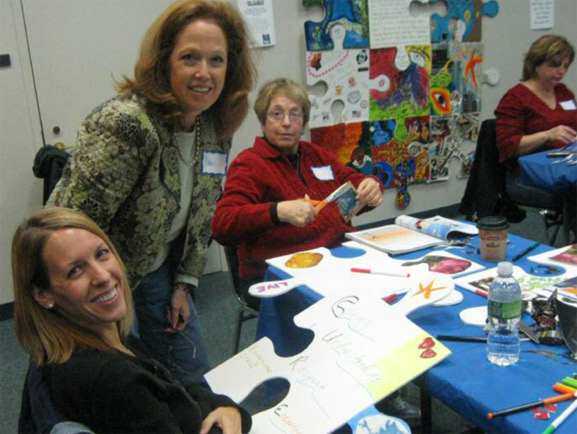 puzzle art project art is good Monmouth & Ocean County Brain Tumor Support Group, Wall, NJ tim kelly artist
