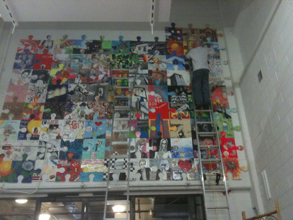chelsea market nyc the puzzle art installation & collaborative project artists & fleas tim kelly artist nyc