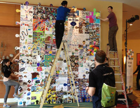 puzzle art project tim kelly puzzle art installation and collaborative project nyc brooklyn art