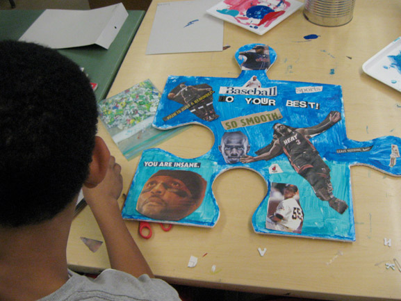 puzzle project harlem ps161 tim kelly artist nyc