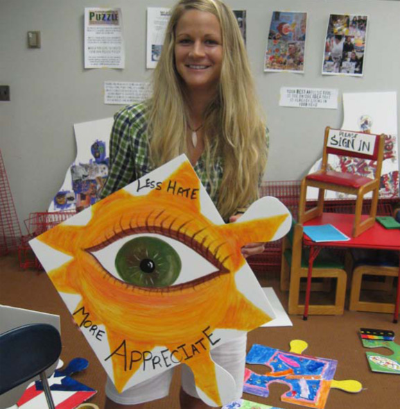 puzzle art project art is good tim kelly artist howel library monmouth library system