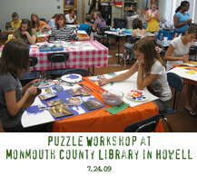 puzzle art project howell tim kelly monmouth county library art