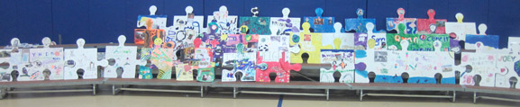 puzzle installation & collaborative project island heights elementary school island heights nj tim kelly artist