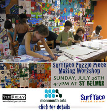 art is good puzzle installation tim kelly artist david s zocchi brain tumor fund surftaco art tim kelly