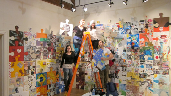 puzzle installation and collaborative project middletown arts center tim kelly artist