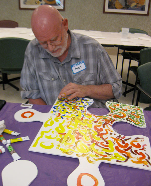 puzzle installation & collaborative project monmouth and Ocean brain tumor support group tim kelly artist art is good