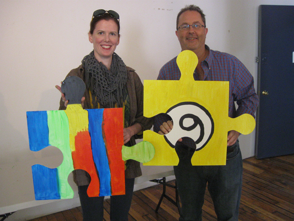 puzzle art installation & collaborative project monroe center for the arts hoboken nj tim kelly artist nyc
