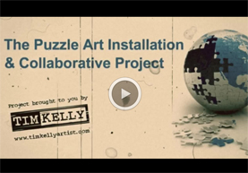 puzzle art installation and collaborative project video tim kelly artist brooklyn ny art julian zee