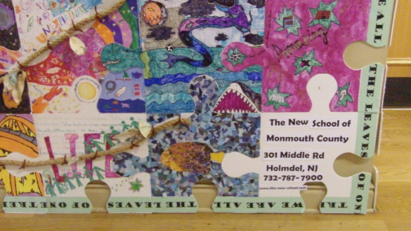 puzzle project new school momouth county art is good tim kelly artist