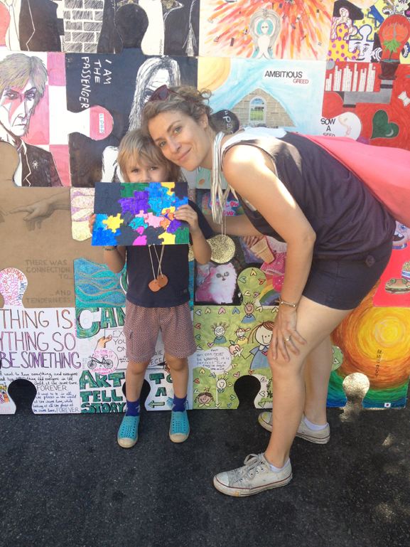 northside art festival williamsburg brooklyn the puzzle art installation & collaborative project tim kelly artist nyc