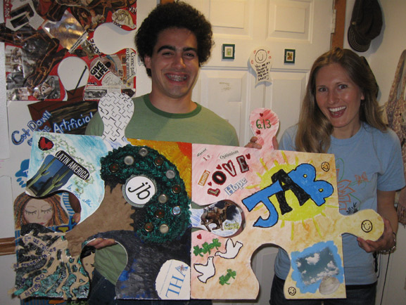puzzle making art party brooklyn nyc tim kelly art puzzle project