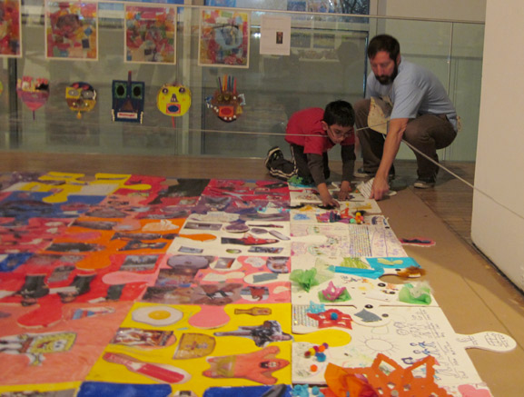 puzzle project queens museum of art ps144 tim kelly art nyc collaboration installation