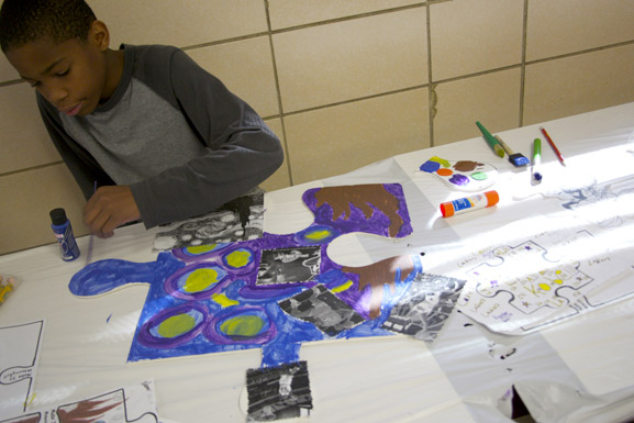 puzzle art project nyc south richmond high school art is good tim kelly artist nyc collaborative installation