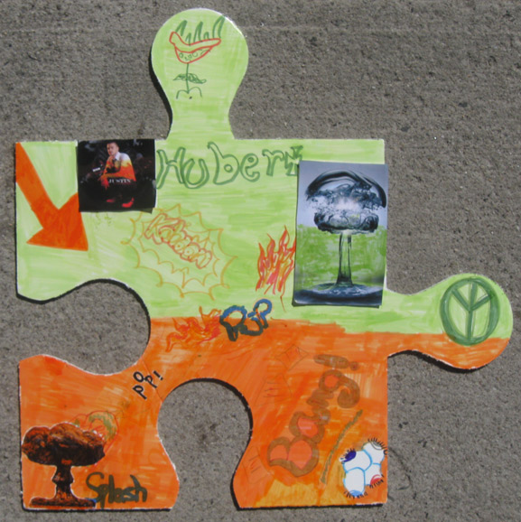 puzzle art project ymca greenpoint brooklyn art is good tim kelly artist nyc collaborative installation