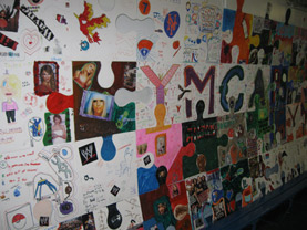 puzzle art project ymca greenpoint brooklyn ps16 art is good tim kelly artist nyc collaborative installation