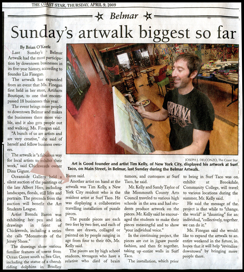 tim kelly artist article coarst star puzzle project