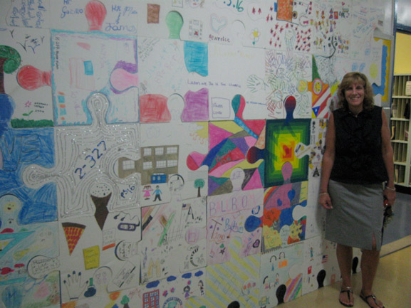 puzzle art project nyc ps15 brooklynschool art is good tim kelly artist nyc collaborative installation
